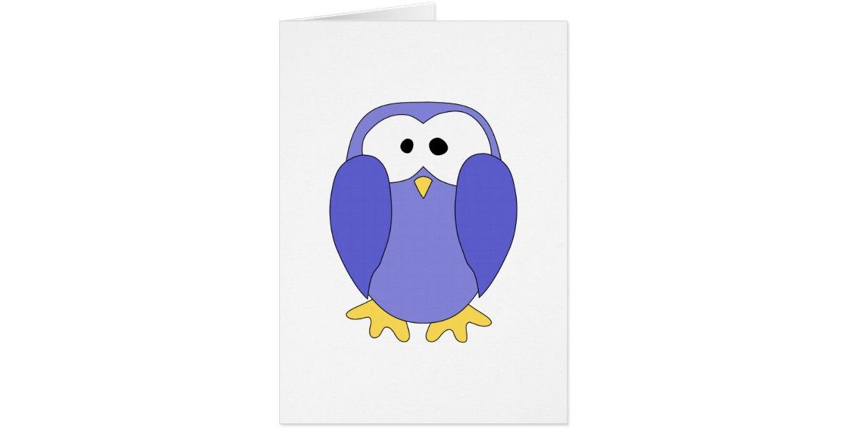 Cute Blue Penguin. Penguin Cartoon. Greeting Card | Zazzle