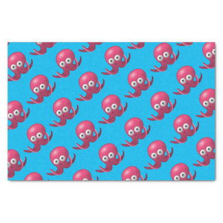 Cute Blue Pink Octopus Under the Sea Birthday Tissue Paper