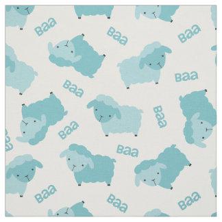 Cute Blue Sheep Fabric