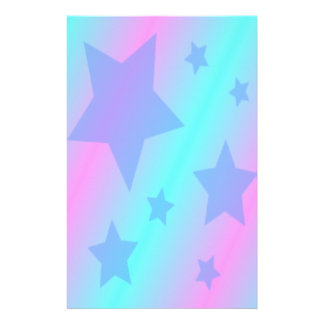 Cute Blue Stars Personalized Stationery
