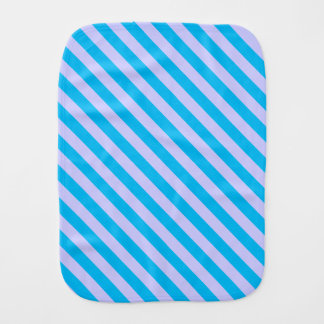 Cute blue stripes patterns baby burp cloths