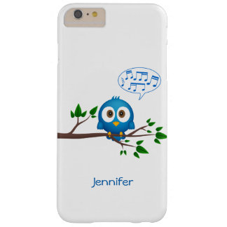 Cute blue twitter bird cartoon barely there iPhone 6 plus case