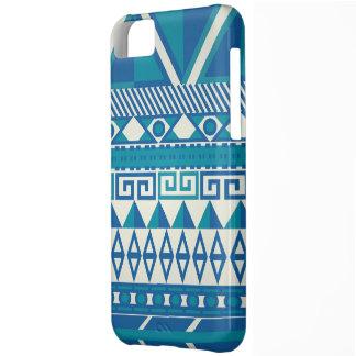 Cute Blue & White Aztec Iphone 5 Case
