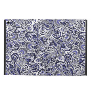 Cute blue white paisley patterns design cover for iPad air