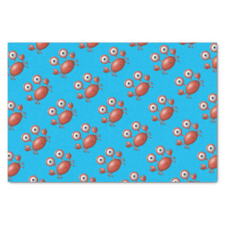 Cute Blue with Red Lobster Under the Sea Birthday Tissue Paper