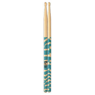 Cute Blue Zebra Drum Sticks