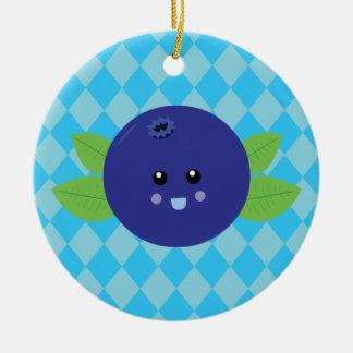 Cute Blueberry Ceramic Ornament