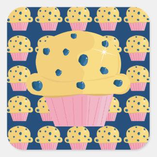 Cute Blueberry Muffin Stickers