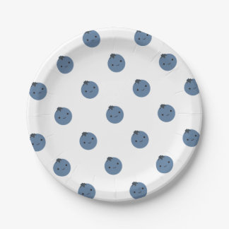 Cute Blueberry Paper Plate