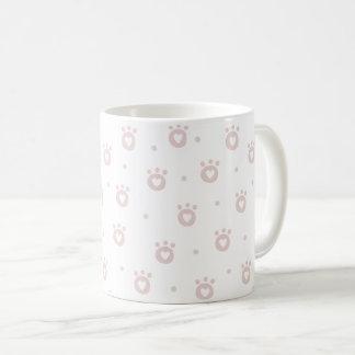 Cute Blush Pink Pet Paws & Hearts Mug