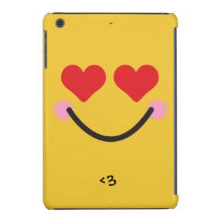 Cute blushing heart for eyes emoji iPad mini retina cases