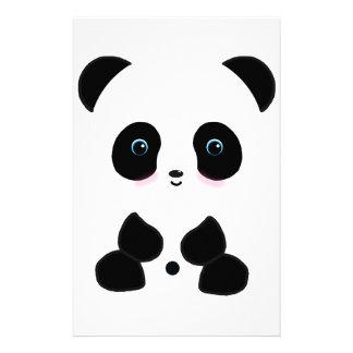 Cute Blushing Panda Bear Stationery Design