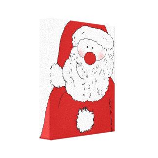Cute Blushing Santa Canvas Print