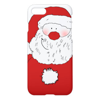 Cute Blushing Santa iPhone 7 Case