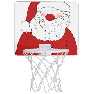Cute Blushing Santa Mini Basketball Hoop