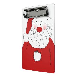 Cute Blushing Santa Mini Clipboard