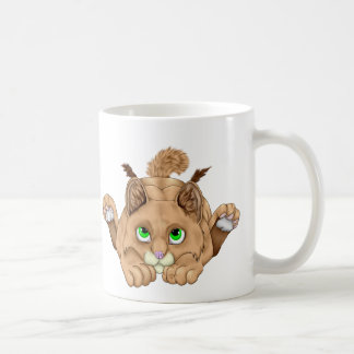 Cute Bobcat Kitten Coffee Mug