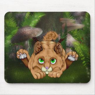 Cute Bobcat Kitten Mouse Pad