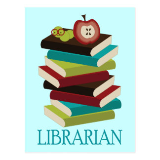 Cute Book Stack Librarian Gift Postcards