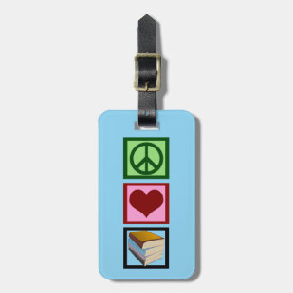 Cute Books Librarian Luggage Tag