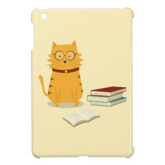 Cute Bookworm Cat iPad Case