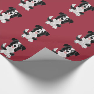Cute Border Collie Original Art Wrapping Paper