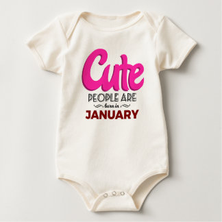 Cute Born In January Babies Birthday Baby Bodysuit