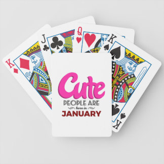Cute Born In January Babies Birthday Bicycle Playing Cards