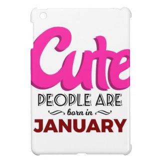 Cute Born In January Babies Birthday iPad Mini Cover