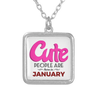 Cute Born In January Babies Birthday Silver Plated Necklace