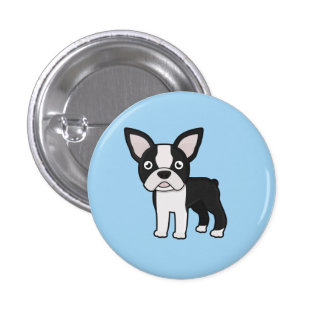 Cute Boston Terrier 3 Cm Round Badge