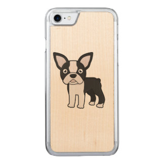 Cute Boston Terrier Carved iPhone 7 Case