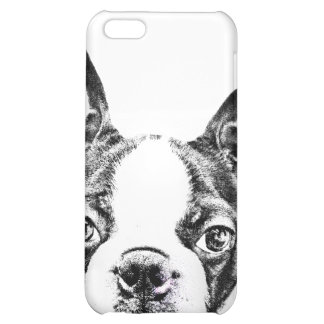 Cute Boston Terrier dog iPhone 5C Cover
