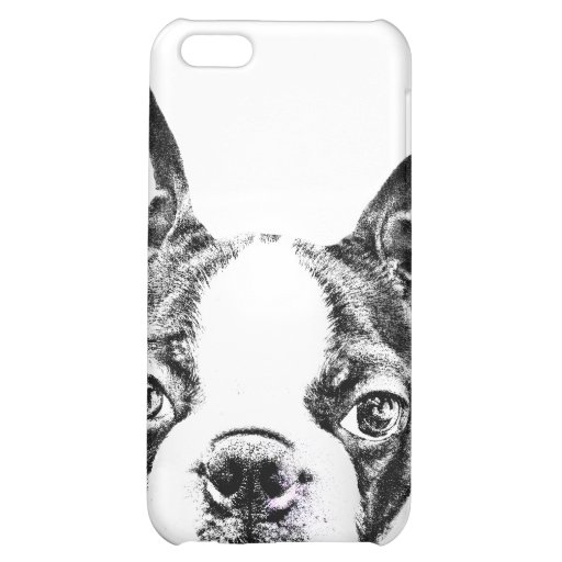Cute Boston Terrier dog iPhone 5C Covers