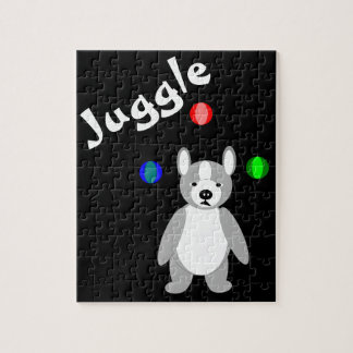 Cute Boston Terrier Juggling puppy Puzzles