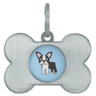 Cute Boston Terrier Pet ID Tag