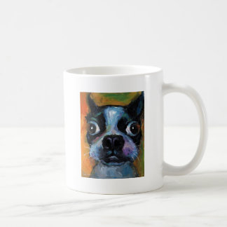 Cute Boston Terrier puppy dog portrait products Mugs