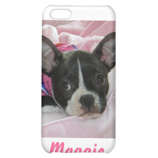 Cute Boston Terrier Puppy Case For iPhone 5C