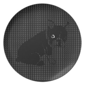 Cute Boston Terrier puppy Party Plates