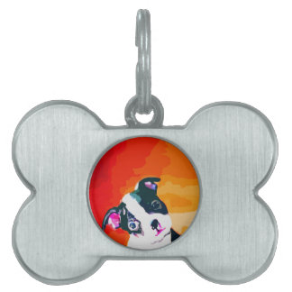 Cute Boston Terrier Puppy Pet ID Tags