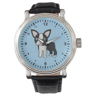 Cute Boston Terrier Watches