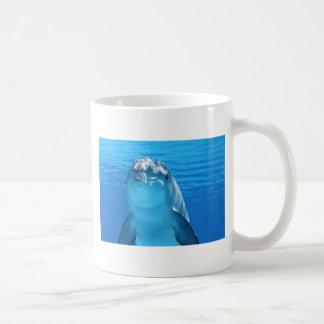 Cute Bottlenose Dolphin underwater Coffee Mug