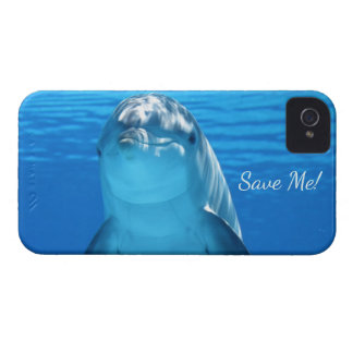 Cute Bottlenose Dolphin underwater iPhone 4 Case-Mate Case