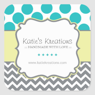 Cute Boutique Envelope Seal Square Sticker