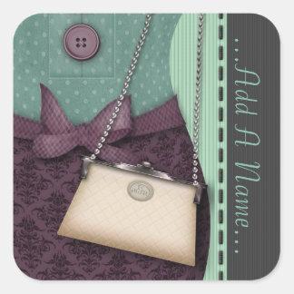 Cute Boutique Retro Outfit and Handbag Stickers