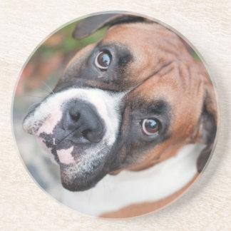 Cute boxer dog coaster