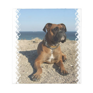 Cute Boxer Dog  Notepad