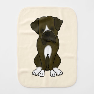 Cute Boxer Puppy Burp Cloth