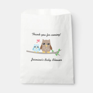 Cute Boy Baby Shower Owl Favour Bag