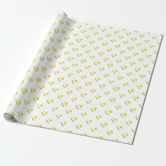 Cute Boy Chick Baby Shower Wrapping Paper